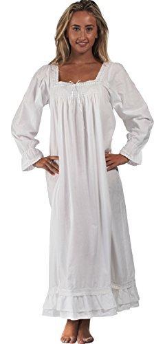 damen nachthemd spitze langarm schlafkleid pyjama kleid ...