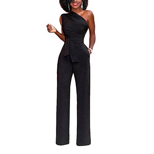 the latest 6ac93 0e3a9 Lover-Beauty Jumpsuit Schwarz Lang Elegant Damen Overall ...