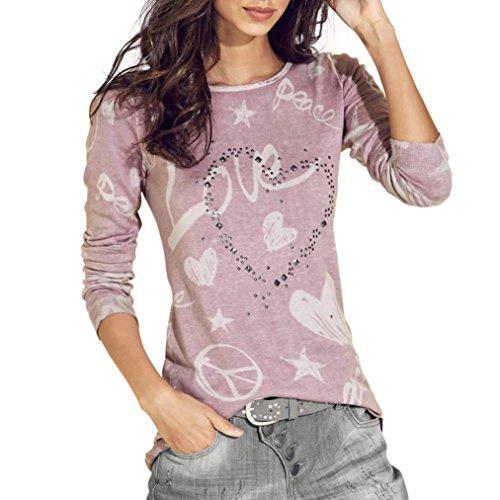 Morbuy Damen Sweatshirt, Casual Pullover Langarm T-Shirt ...