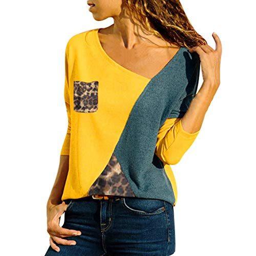 1f33bdf2ae1b8a MRULIC Damen Kurzarm T-Shirt Rundhals Ausschnitt Lose Hemd Pullover ...