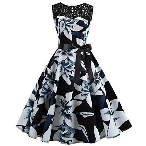 Damen Kleider Elegant Partykleider, Sunday Damen Retro ...