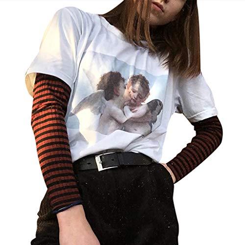 6274b6aeb7d340 Lurcardo Damen Shirts T-Shirt Blusen Sommer Sexy Einfarbig Schulterfrei  Blumenmuster Tuniken Mode Tops Kurzarm Kurze Ärmel Lässiges Lose Bluse  Oberteil ...