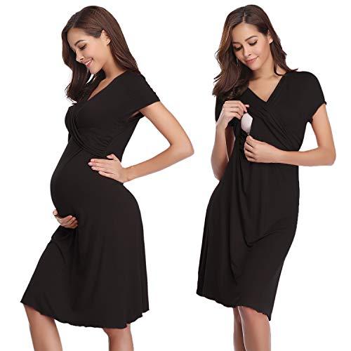 Hawiton Damen Umstands Kleid Nachthemd für ...