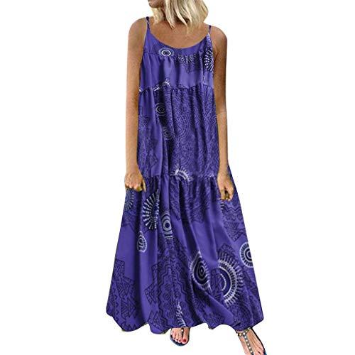 Mode Freizeit Kleid Damen Sommer Langes Kleid Leinen ...