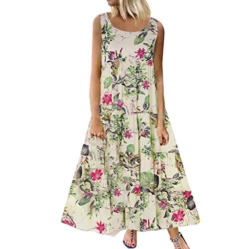 Damen Leinenkleid Sommerkleid Große Größen,Frauen Plus ...