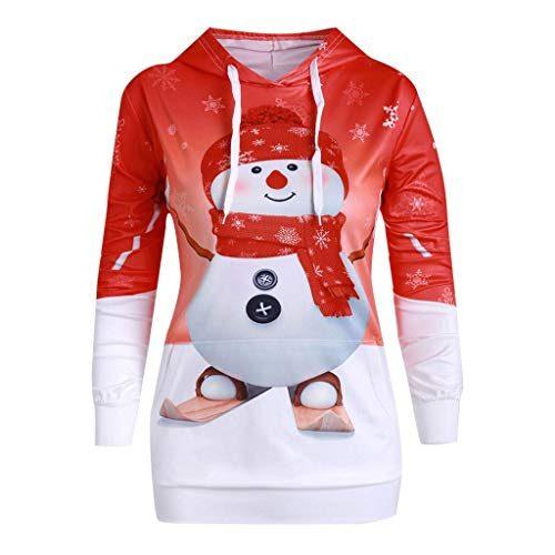 Btruely Weihnachtskleid Damen Sweatshirt Christmas Kleider ...