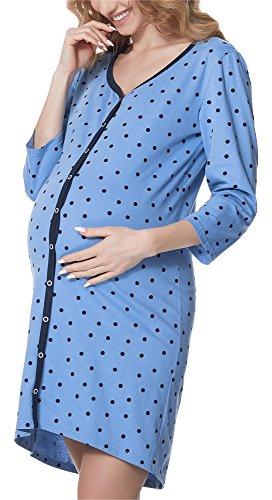 ADOME Nachthemd Damen Stillen Sleepshirt Geburt Nachtwäshe ...